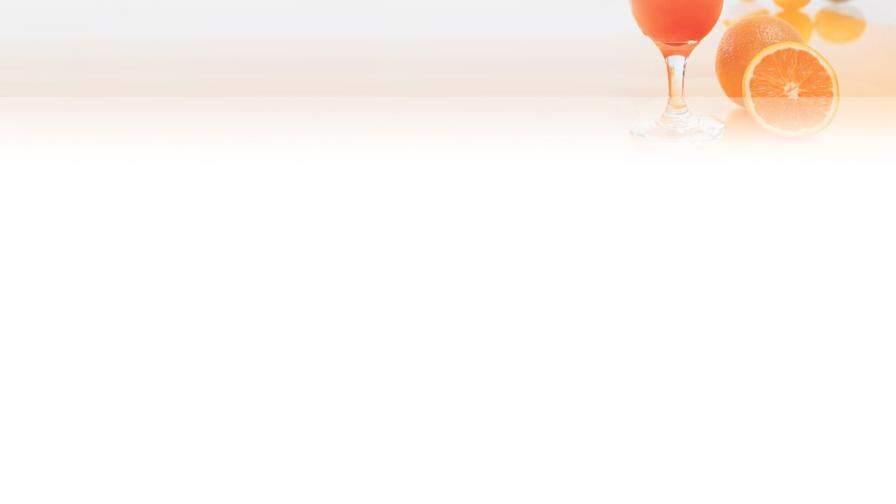 一杯橙汁橙子PPT背景图片的第2张目录图片