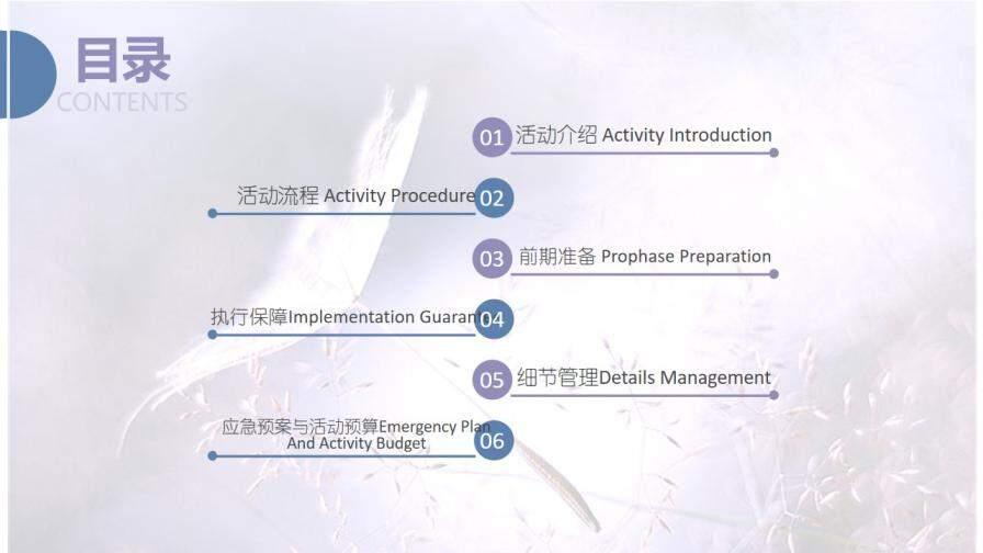 文艺简约清新双十一活动策划PPT模板