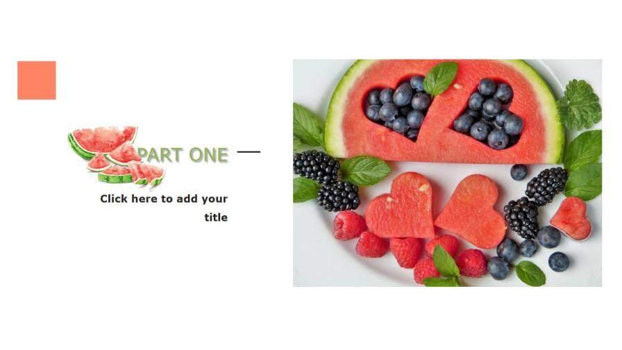 summer美食之西瓜介绍宣传PPT模板的第3张内容图片