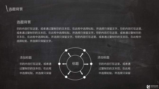 202X黑板风格毕业论文答辩通用PPT模板的第4张内容图片