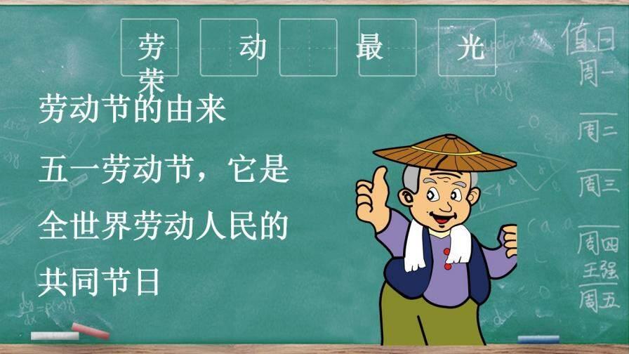 202X中小学卡通劳动节主题PPT模板的第6张内容图片