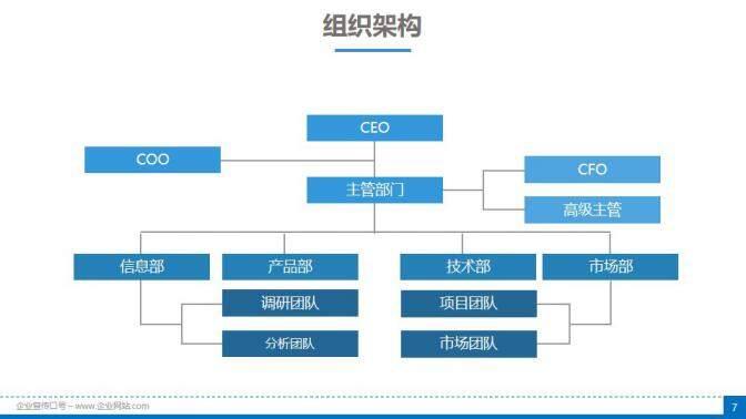 蓝色商务项目评估公司介绍商业计划书PPT模板的第7张内容图片