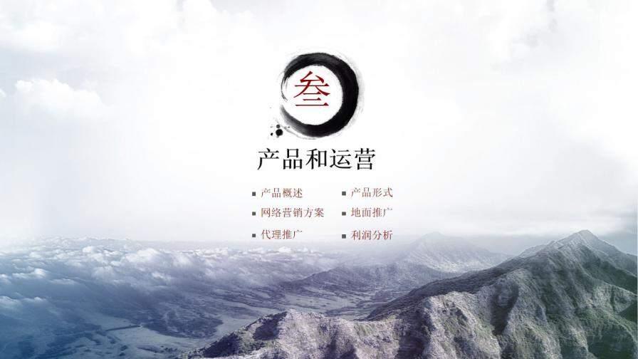 中国风商业计划书营销策划书立体PPT模板