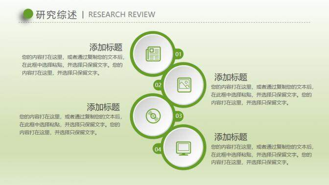 渐变绿色论文答辩开题报告社会实践PPT的第7张内容图片