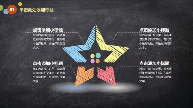 黑板风教育教学PPT模板的第6张内容图片